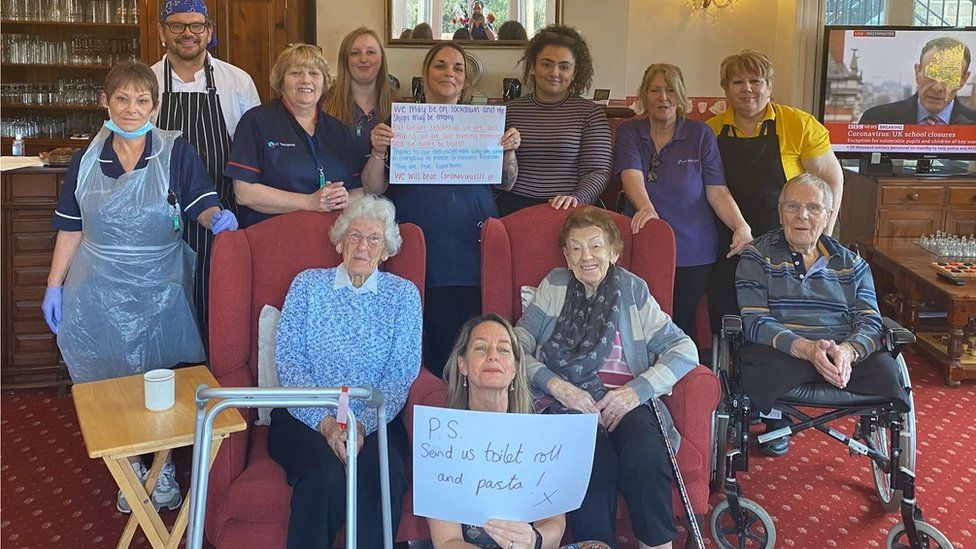 Staff and residents at St Vincents Retirement Home