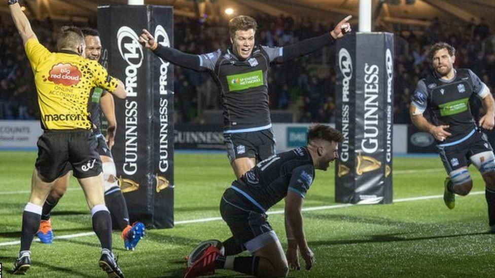Ali Price's second-half try helped Glasgow to victory against Edinburgh