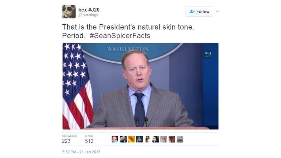 """@bexology_: """"That is the President's natural skin tone. Period."""