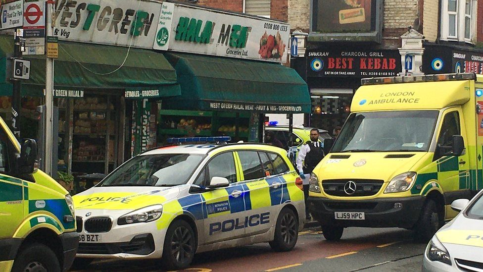 Tottenham stabbing: Two hurt in butchers shop