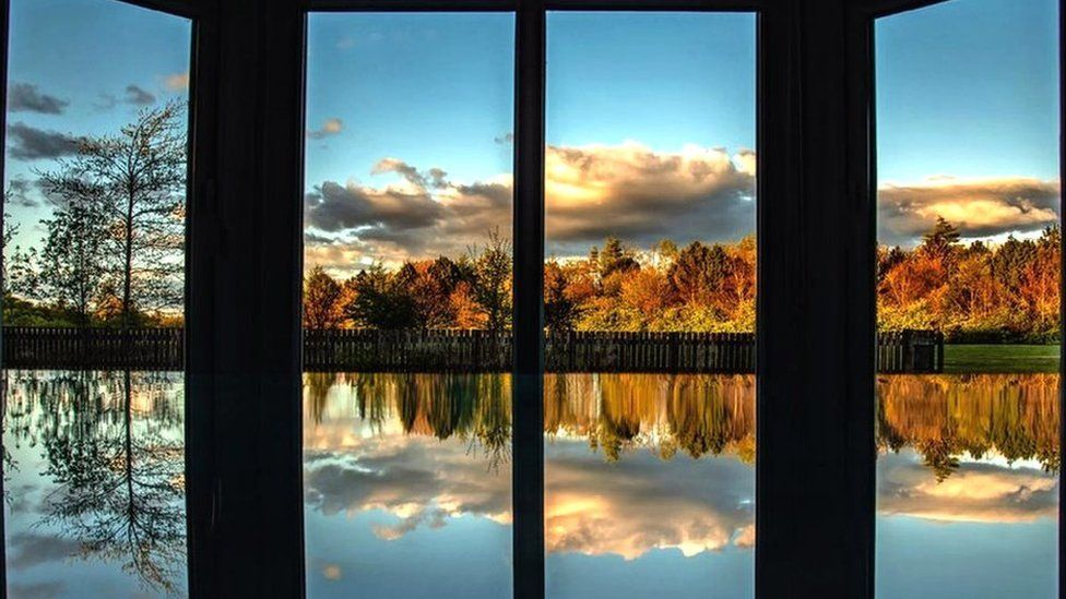 Reflection from window
