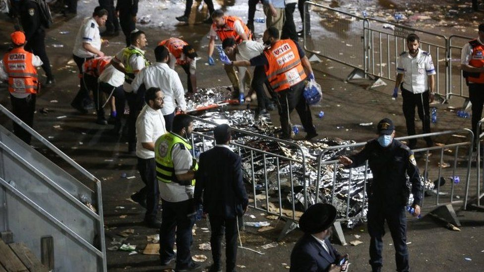Dozens critically injured in stampede at Israeli religious festival