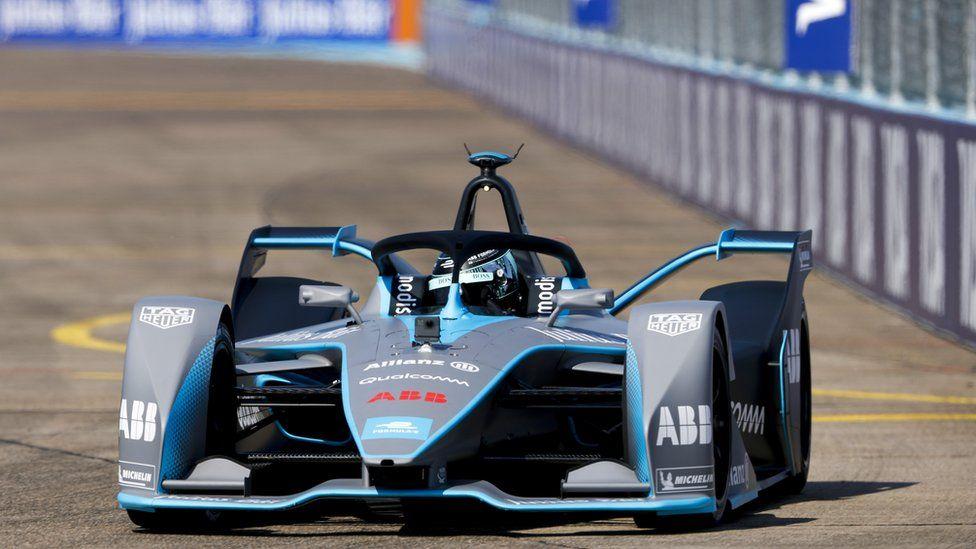 A Formula E car