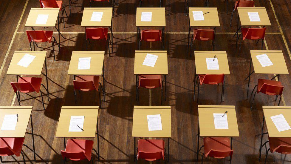 An empty exam hall