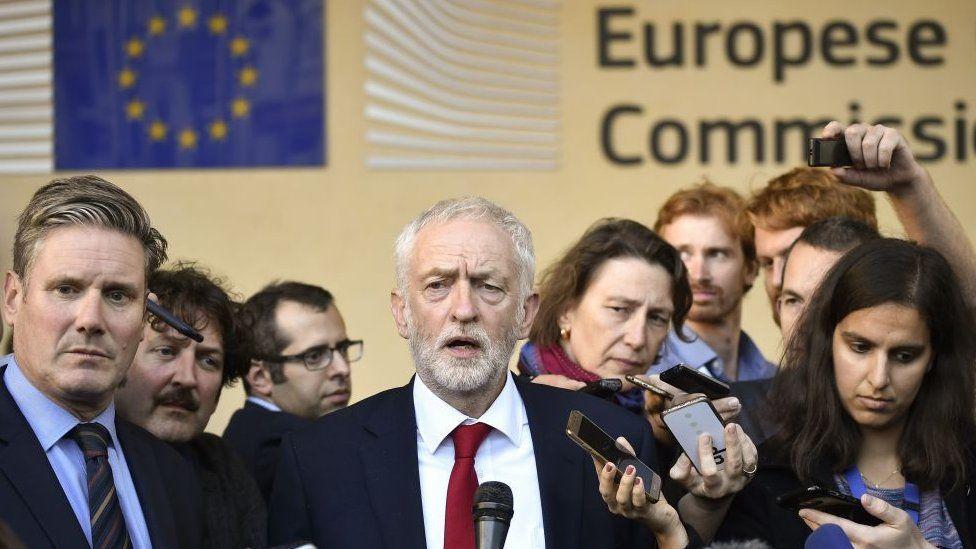 Sir Keir Starmer and Jeremy Corbyn