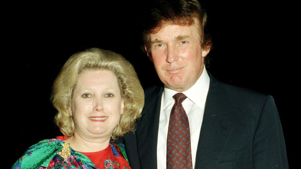 Donald Trump and Elizabeth Trump Grau in Florida in 1997