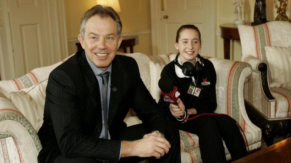Tony Blair and School Reporter