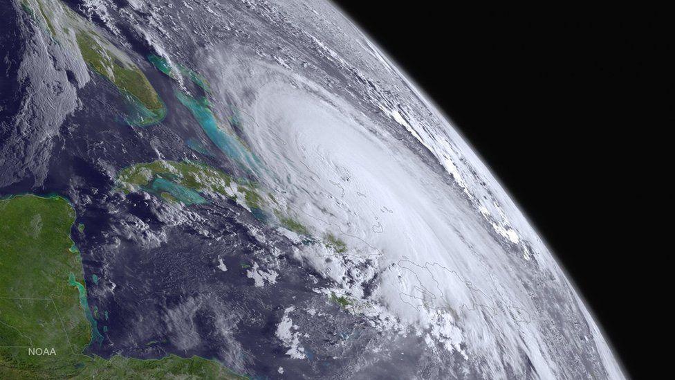 Satellite picture of Hurricane Joaquin