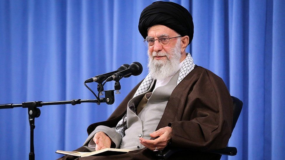 Iranian supreme leader Ayatollah Ali Khamenei speaks during a ceremony in Tehran, Iran, 17 November 2019