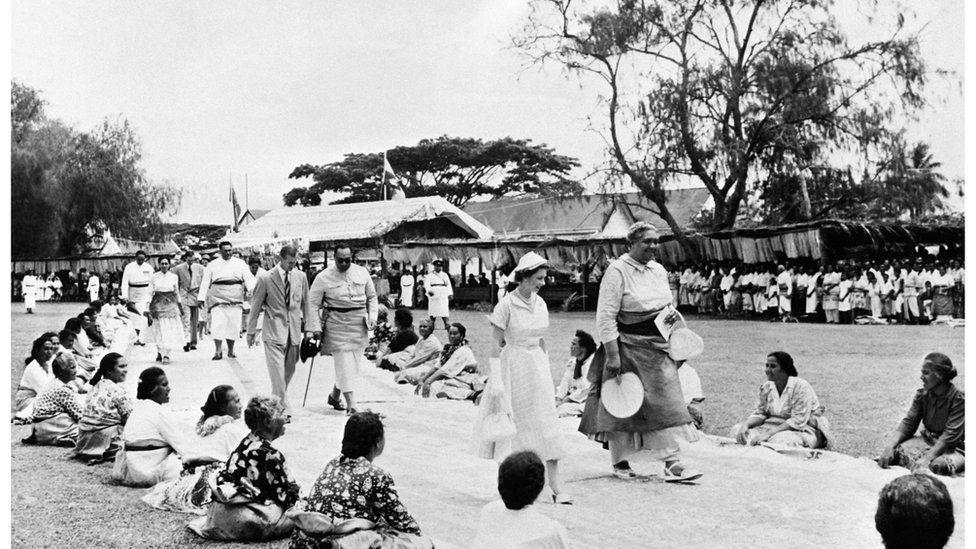 Queen Elizabeth's Tonga visit 1953