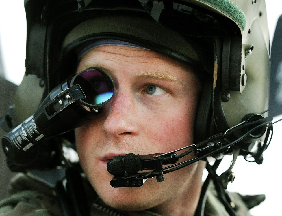Prince Harry in Afghanistan in December 2012