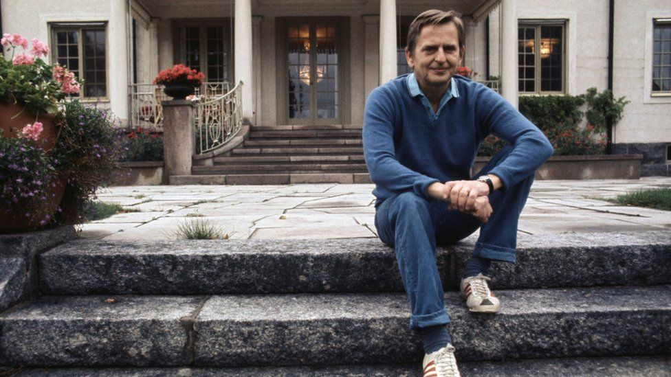 Olof Palme at home in 1973