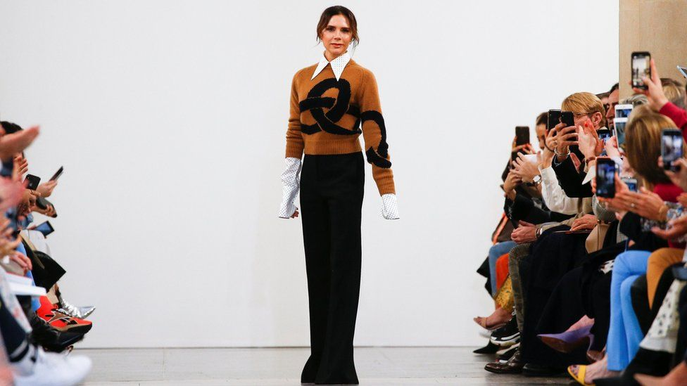 Victoria Beckham at London Fashion Week 2019