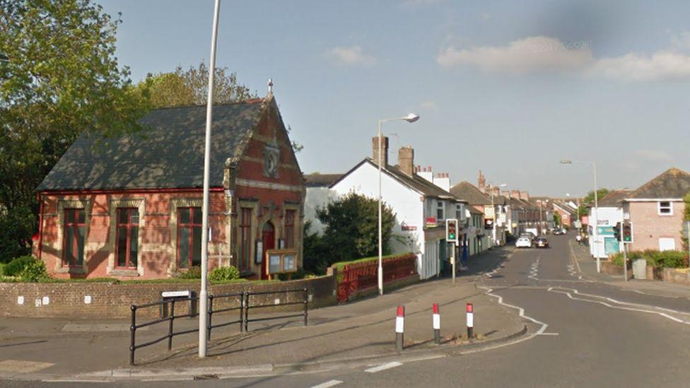 Somerford Road, near the crash scene