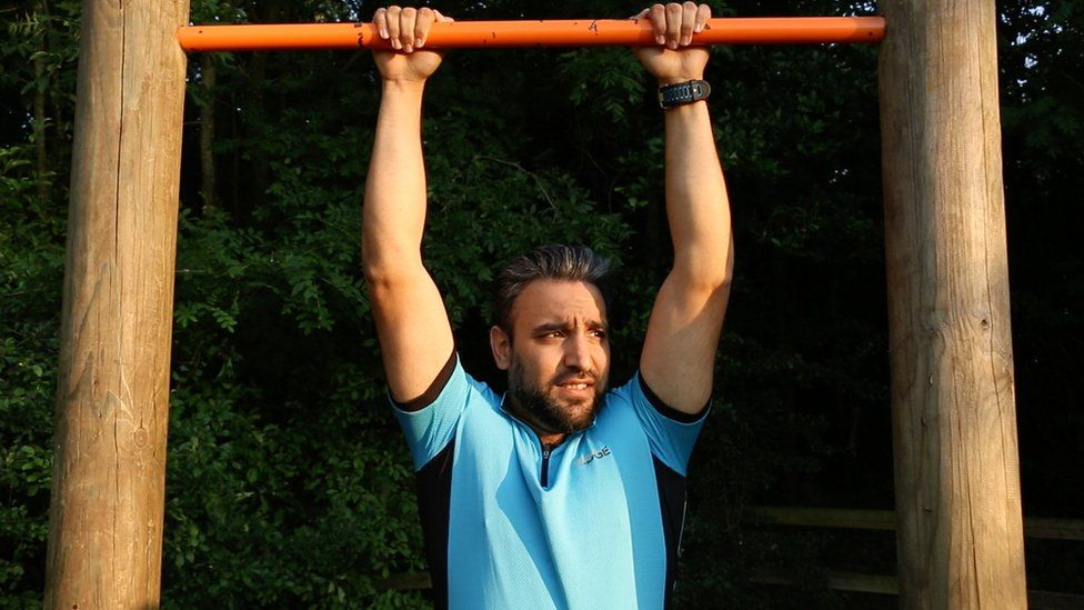 Haris Mahmood is fasting while training for a triathlon