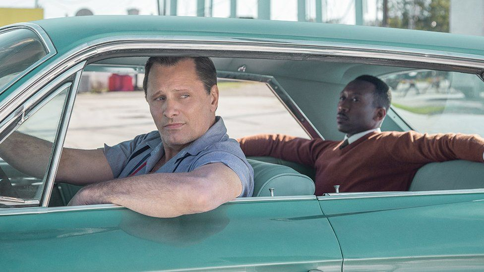 Viggo Mortensen and Mahershala Ali in Green Book
