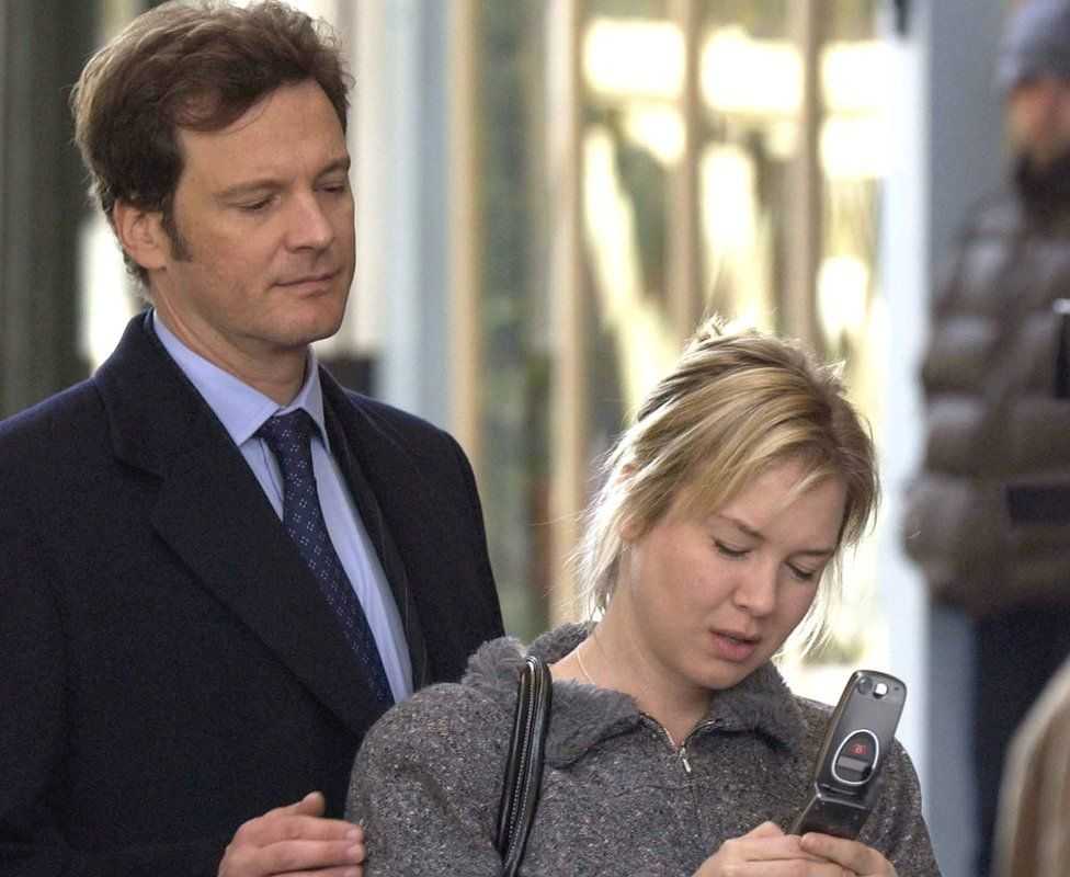 Colin Firth and Renee Zellweger filming a scene for Bridget Jones' Diary 2