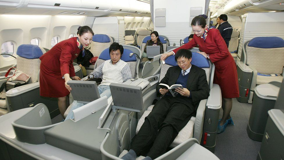 Interior of an Air China A380