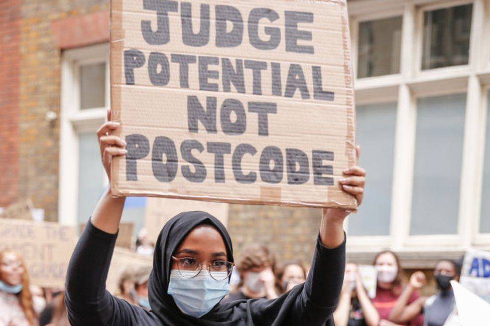 student protesting