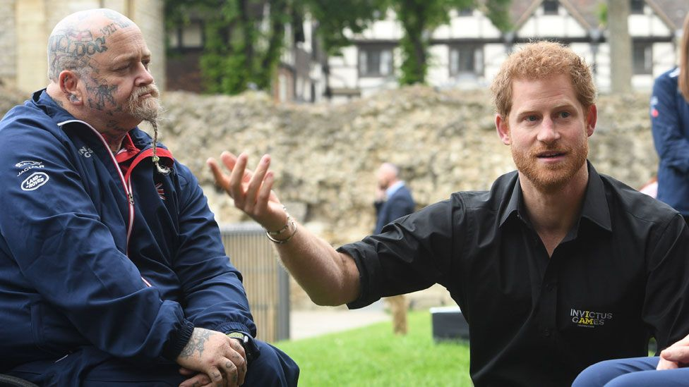 Prince Harry and a member of the UK's team at the Invictus Games