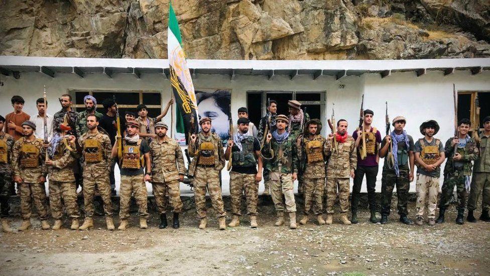Resistance fighters in Panjshir