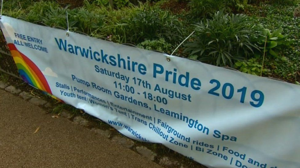 Warwickshire Pride posters and flags torn down