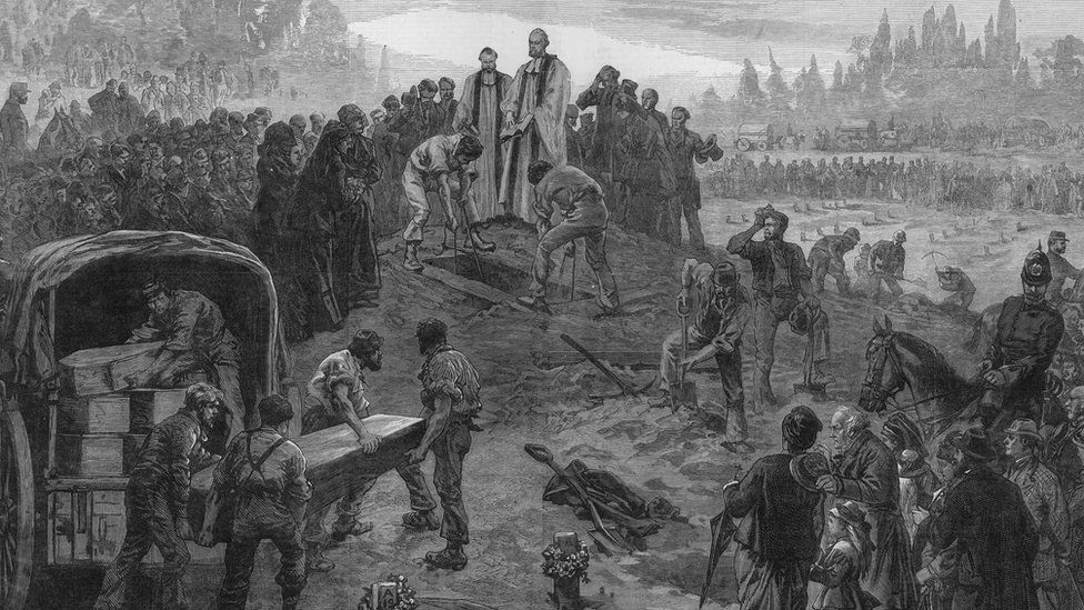 Burial of the unknown dead at Woolwich cemetery