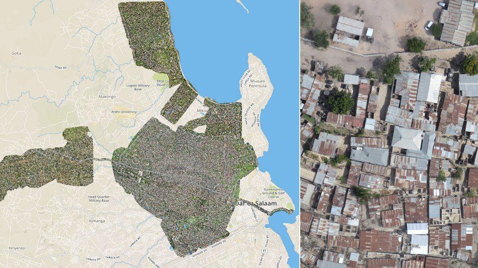 Map and image of Dar Es Salaam