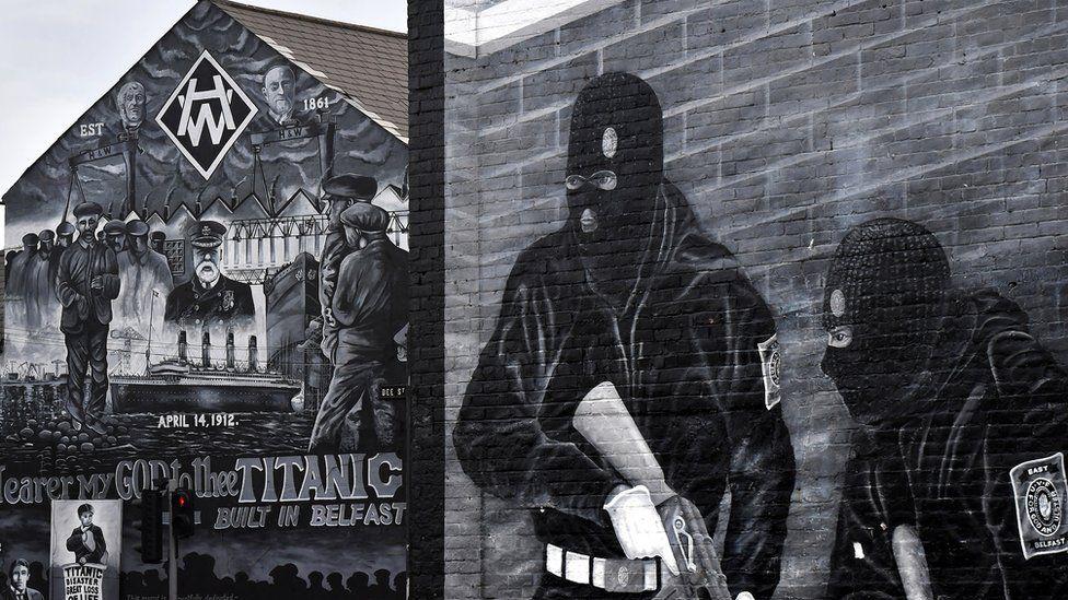 Murals on the Newtownards Road in east Belfast