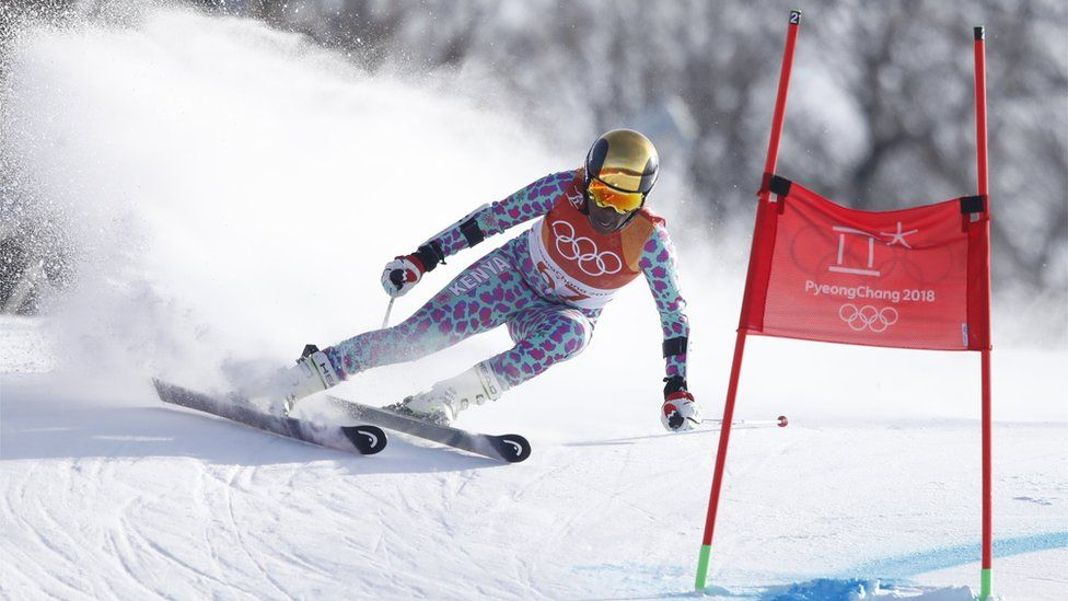 Sabrina Simader competes in the Pyeongchang 2018 Winter Olympics Women's Giant Slalom Yongpyong Alpine Centre on 15 February 2018.