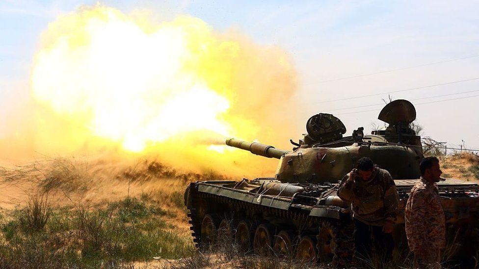 Islamist fighters in easern Libya- archive shot