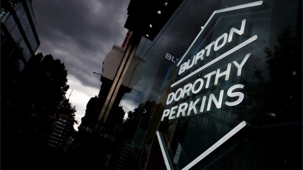 Dorothy Perkins and Burtons sign