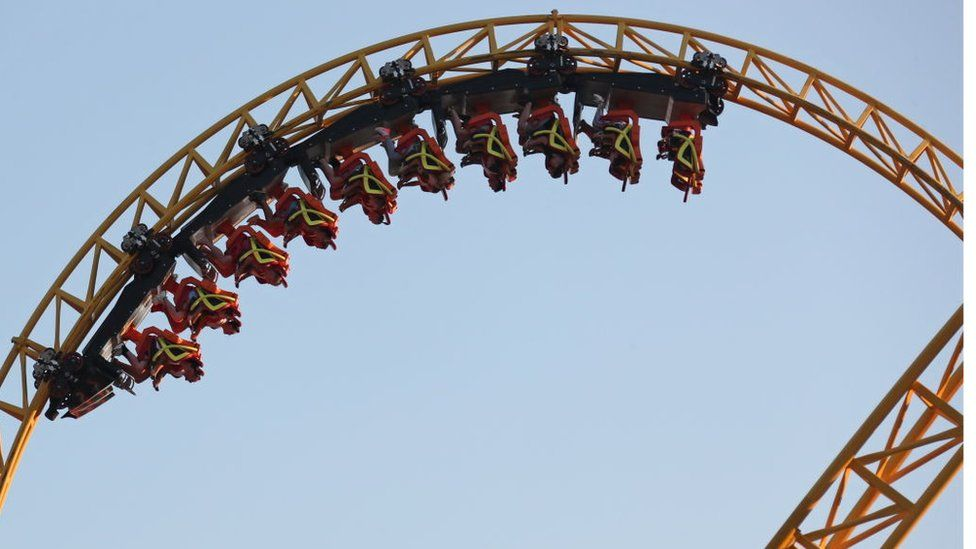 A rollercoaster ride in Russia.