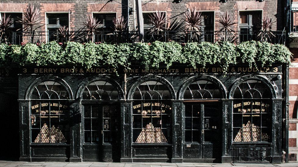 The exterior of BBR's historic shop on St James's Street has changed little over the years
