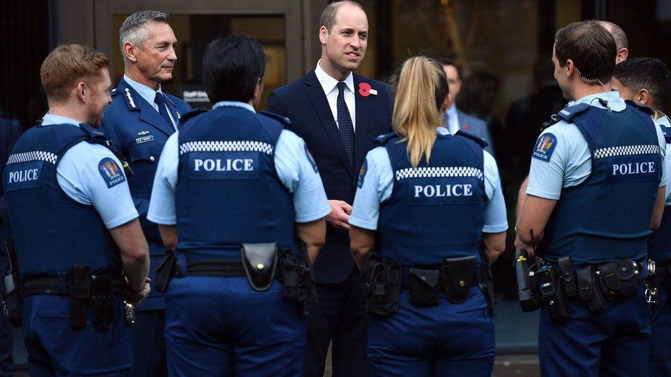 Prince William meets with the first responders to the scene of the Christchurch mosques massacre