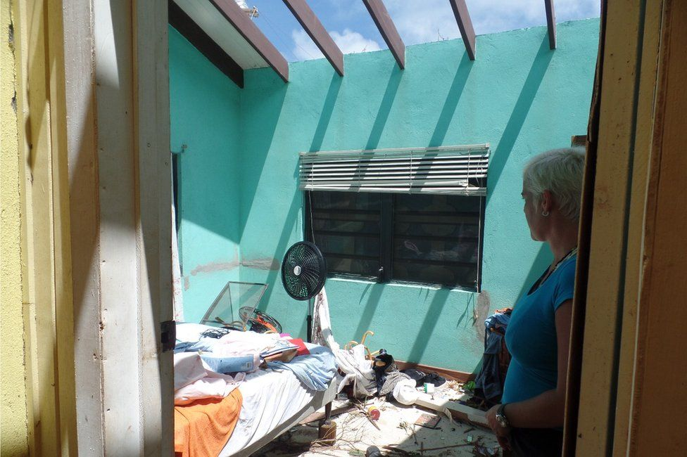 The bedroom at the Codrington home where Sira Berzas thought she would be safe from Hurricane Irma