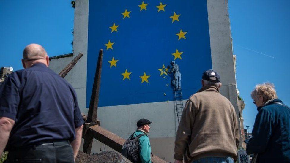 Banksy Brexit Mural near Dover port