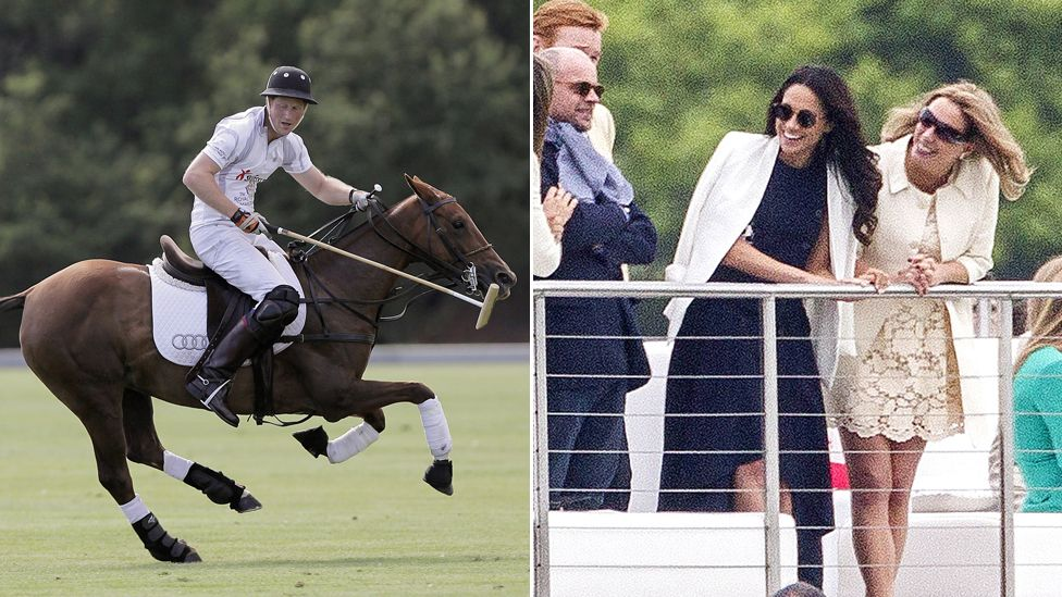 Meghan Markle watches Prince Harry play polo at Coworth Park