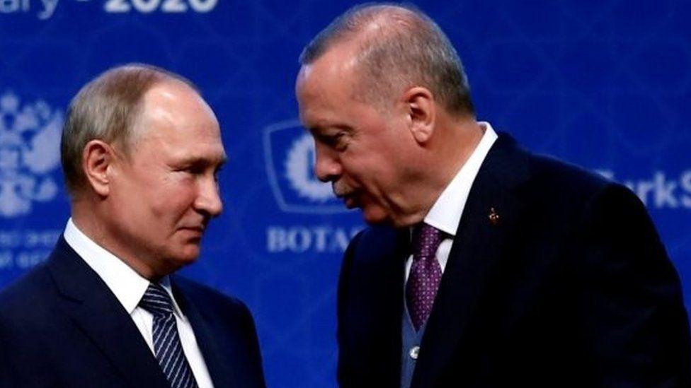 Russian President Vladimir Putin (left) and Turkish President Recep Tayyip Erdogan. Photo: January 2020