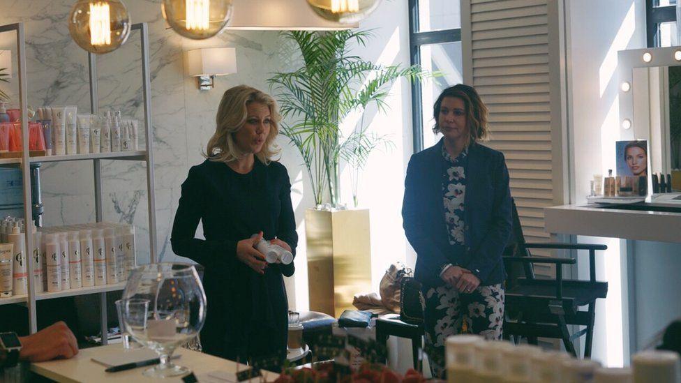 Ms Lowengrip with her business partner Pingis Hadenius