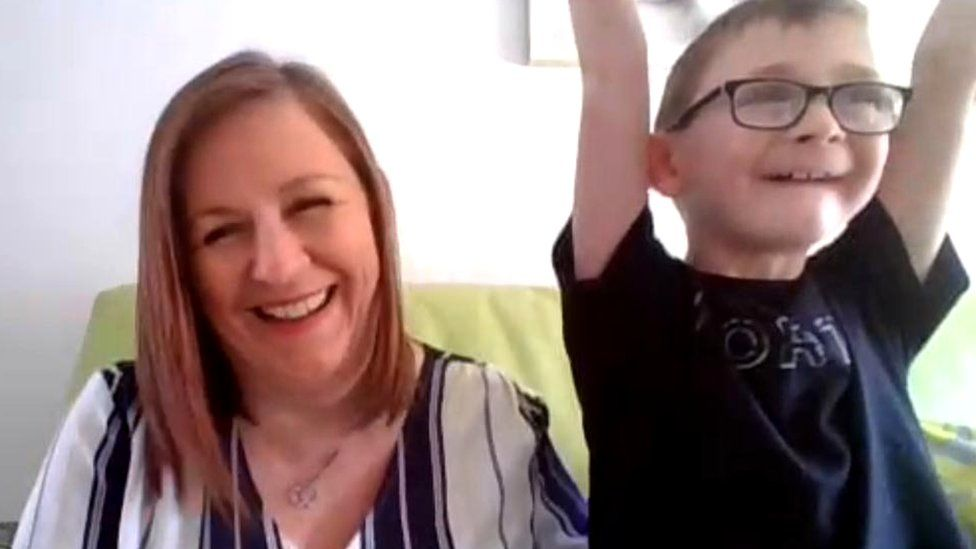 Jillian Duffy and her son Ronan