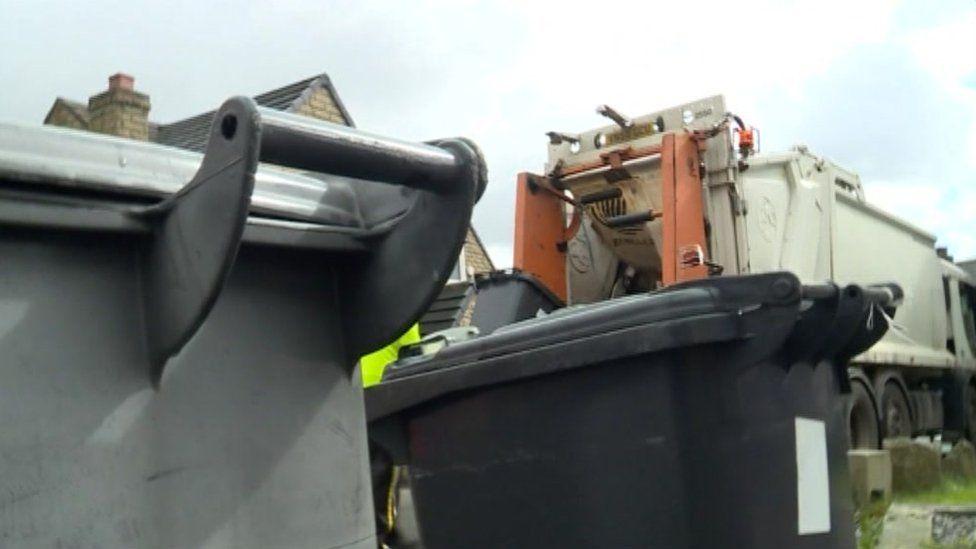 Bin collection in Kirklees