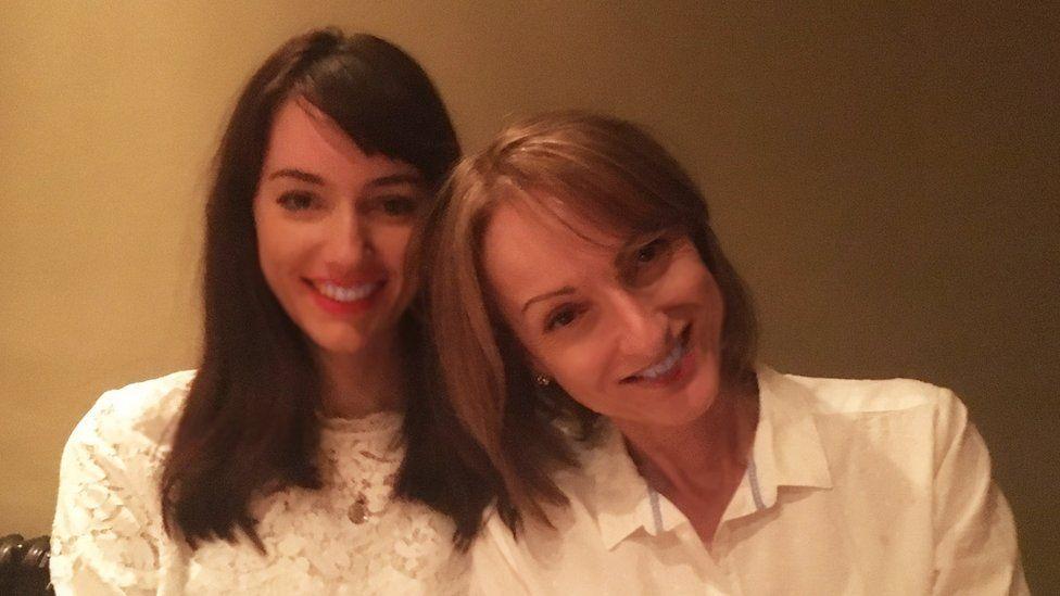 Rachel Wilson and her mum