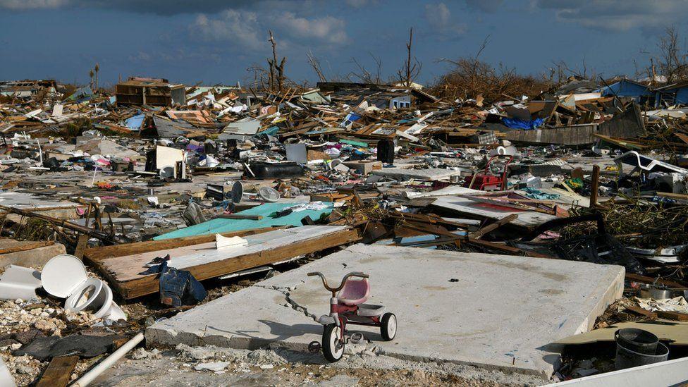 Hurricane Dorian damage on Great Abaco