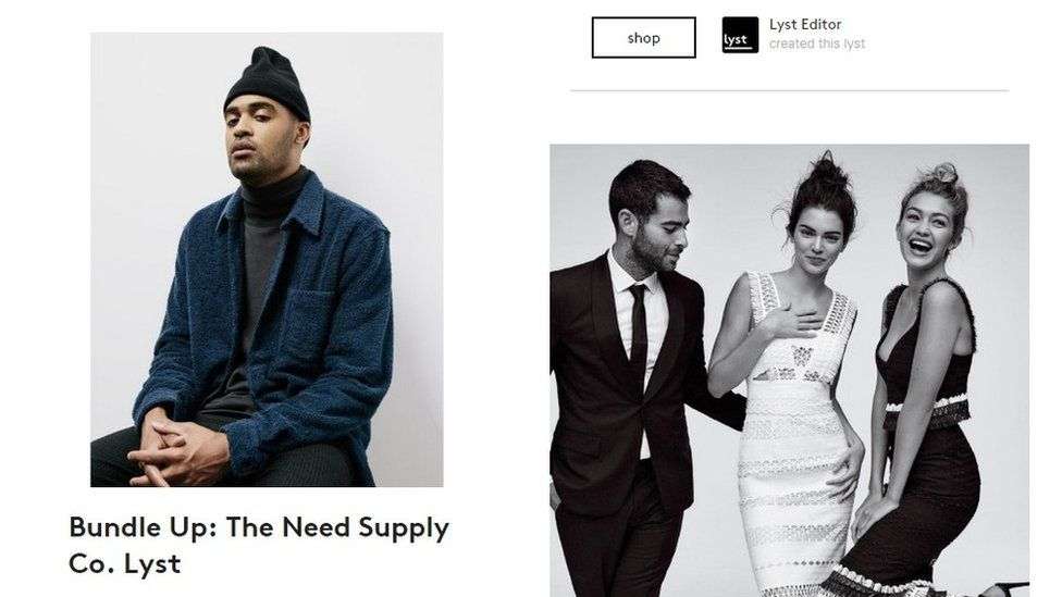 Screengrab from Lyst website
