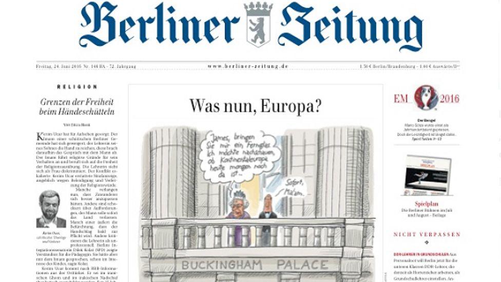 Berliner Zeitung's frontpage