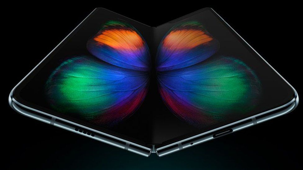 Samsung's folding phone was shown off for the first time earlier this year