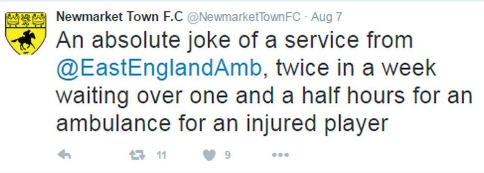 Tweet by Newmarket Town FC