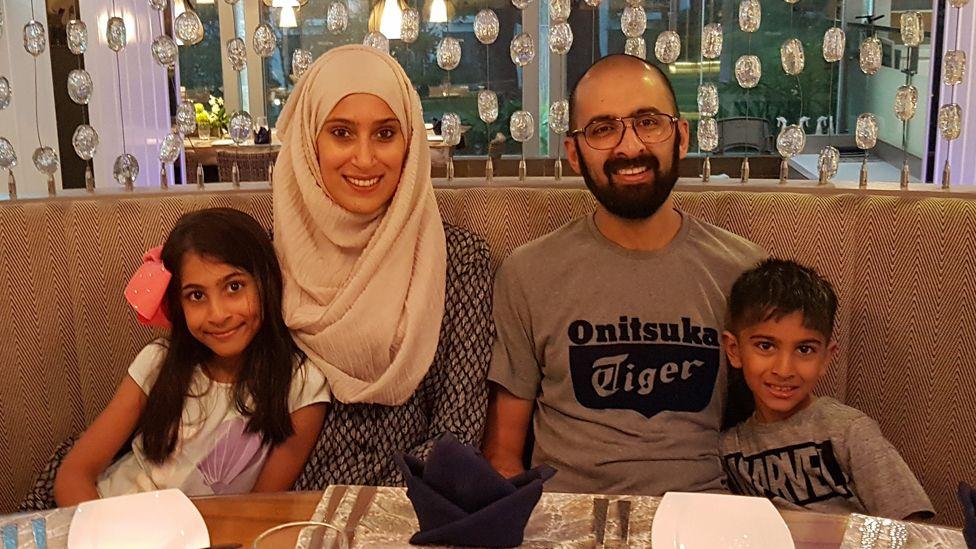Rabiya Limbada with her husband Imran and children Hanaa and Muhammad