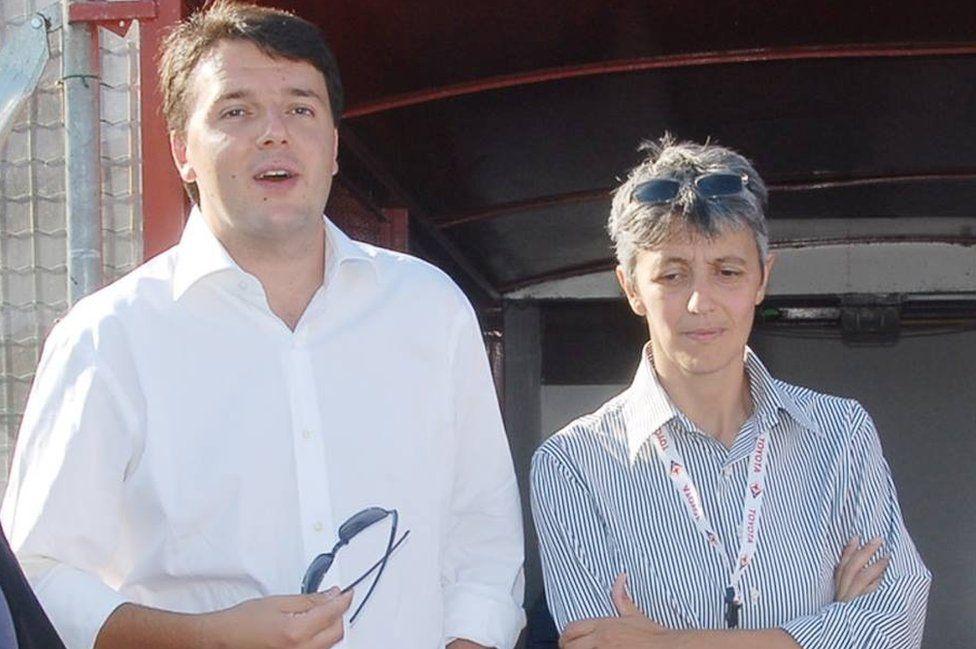 Matteo Renzi and Alessia Ballini (pic: Matteo Renzi Facebook site)